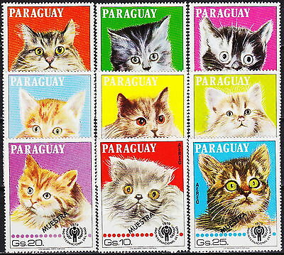 Paraguay Int Child Year Cats Muestra 1980 MNH-?