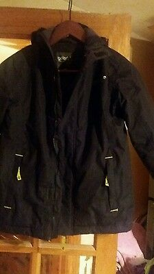 Gelert storm coat reflective strips fleece lined size 9-10 yrs BNWOT