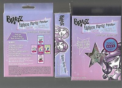 Group of (3) BRATZ Fashion Party 2 players starter sets &(10) booster packs