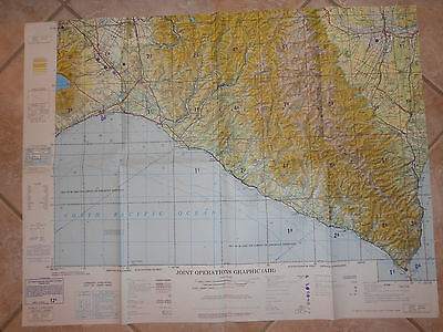 """VINTAGE  Joint Operations Graphic Air Chart OBIHIRO,JAPAN 1974 -29"""" X 22"""""""