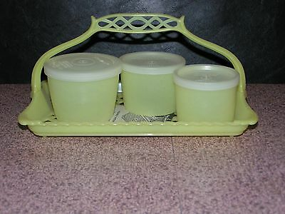 50's Vintage Tupperware Welcome Ware Tray With More