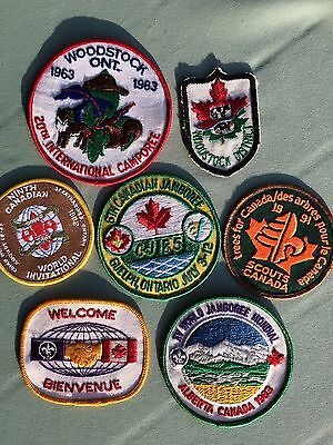 BOY SCOUT Patches/ 7 Canada- Jamboree/ Camporee/ Invitational- Collectible