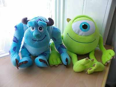 "Soft Plush Sully & Mike from Monster Inc 10"" Tall - VGC"