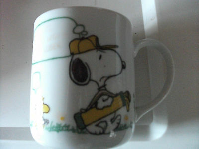 Vintage Retro Peanuts rounded edge Mug 'I HATE PLAYING WITH A GOOD LOSER'Ht 3`/2