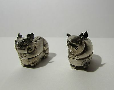 Antique Solid Silver Mythical Animal Ornament Boxes 999/1000 pure