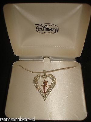 Disney Tinker Bell Necklace Sterling Silver NEW  1990s  NEW RETIRED