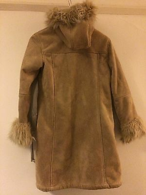 girls jasper conran suede  coat With Faux Fur Trim And Good Aged 11-12
