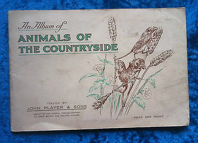 John Player cigarette cards Animals of the Countryside 1939 full set album