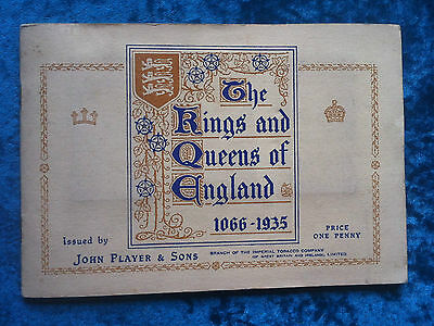 John Player cigarette cards The Kings & Queens of England 1066-1935 album set