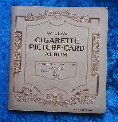 John Player cigarette cards Products of the World album set
