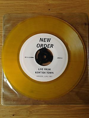 "New Order - Live From Kentish Town London 1981 7"" Yellow Vinyl"