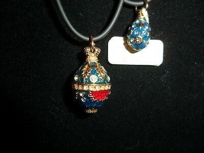 """""""faberge""""  Egg Necklaces X 2"""