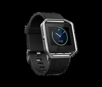 Fitbit Blaze - Smart Watch with Heart Rate Monitor - Large - Black/Silver
