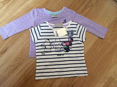 Baby Girl 2 pack mouse t-shirts from Next BNWT 3-6 months