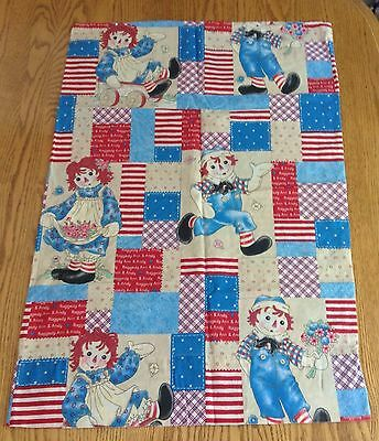 Raggedy Ann and Andy Pillowcase Blue Red