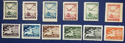 Poland - 1946-1947 2 Complete Airmail sets - MNH.