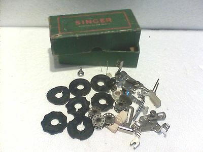 singer sewing machine accessories box full of attachments bits & bobs