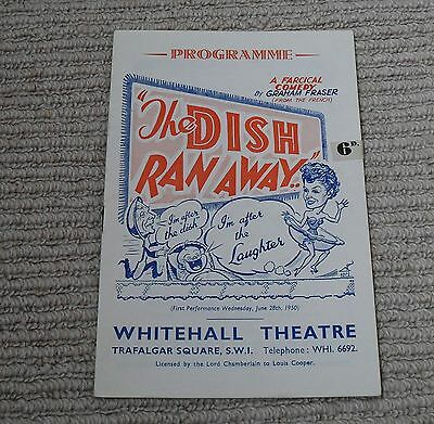 Whitehall Theatre Programme - The Dish Ran Away from 1950's