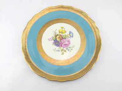 Old Foley China Cake Plate - Blue, Gold and Floral Design - Afternoon Tea