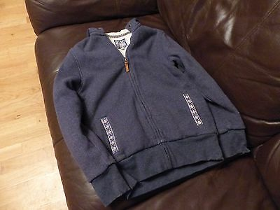 Girls Blue Fat Face Quilted Hoodie