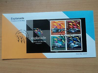 Singapore 12 Oct 2002 Opening of Esplanade - Theatres Miniature Sheet FDC SG1258