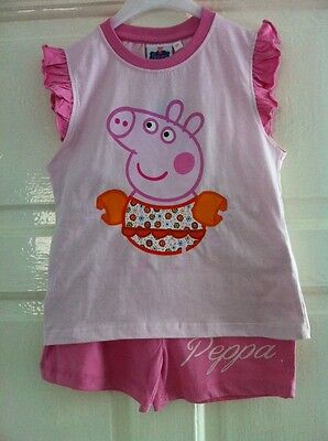 Brand New Peppa Pig Shorts & T-shirt 5-6 Years