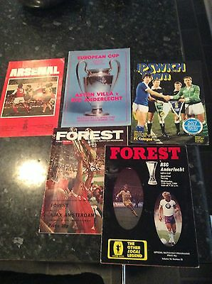 5 X EUROPEAN SEMI FINALS FROM THE 1980s NOTTINGHAM FOREST, ARSENAL ETC