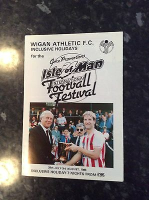 Wigan Athletic 1985 Festival Itinerary / Holidays - 3 Pager Lancashire Manx Cup