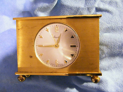 Mauthe mech. Tischuhr Wecker Clock Messing