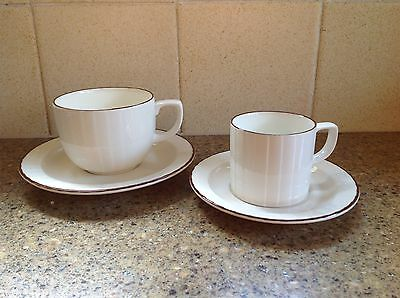 Poole Ridgeway tea and coffee cup plus saucers - Debenhams - excellent