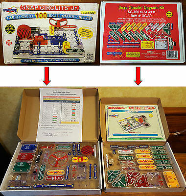 Snap Circuits Jr & Upgrade Kit 305 Electronics Projects - All Parts Work Great!