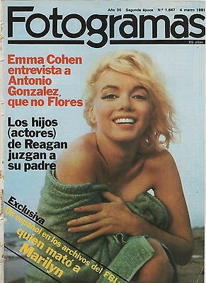 MARILYN MONROE Fotogramas 1981 cover & 5 page article sexy nude photos clippings