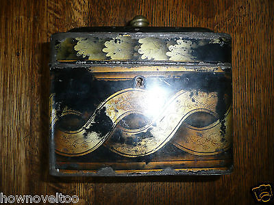 STUNNING ANTIQUE EARLY 19 th CENTURY  TOLEWARE TEA CADDY ! C 1820
