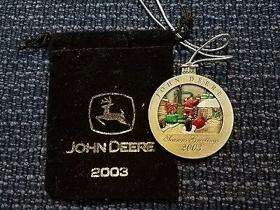 2003 John Deere Tractor Collectable Christmas Ornament