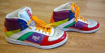 multi coloured trainers size 6, 80's fancy dress