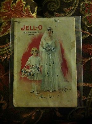 "Vintage 1916 Jello-O Recipe Booklet ""The Bride and Her Task"" Guide Book Original"