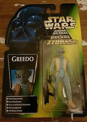 Star Wars figures Greedo unopened power of the force collection