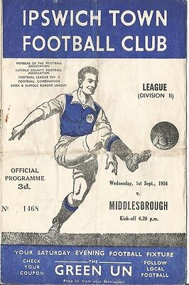 IPSWICH TOWN v MIDDLESBROUGH  1954/55