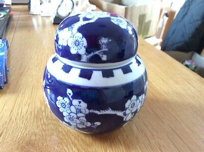 A modern chinese blue and white ginger jar
