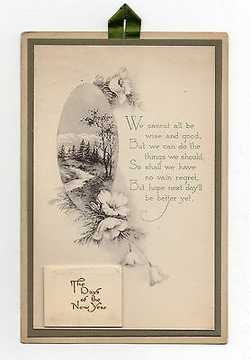"""Unused New Year's Greeting with 1921 Calendar - 4""""x6"""", Excellent Condition"""