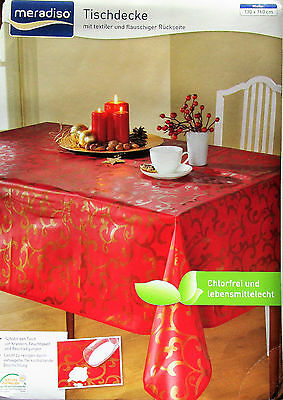 Nappe de table carré Noël facile à entretenir Noël déco Rouge Or