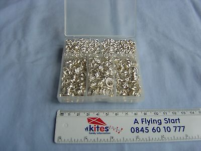 Selection of double jumprings for jewellery making