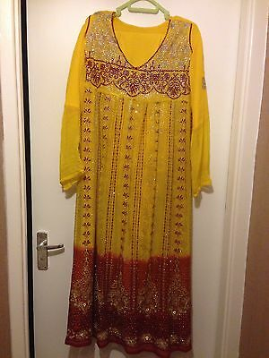 Asian Dress With Churidar Trousers. Size 14