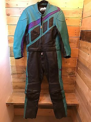 Leather Polo Motorbike Suit Jacket And Trousers