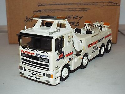 """Alan Smith Daf 93 Recovery unit in 1.48 scale white metal """"Mc Allister"""" livery"""