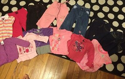 Spring Lot of 12 Months Girl Clothes Gymboree Carters 13Pieces Shirts Pants