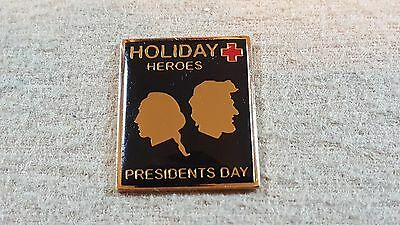 """1999, """"PRESIDENT'S DAY"""" An American Red Cross Blood Services Holliday Hero pin"""