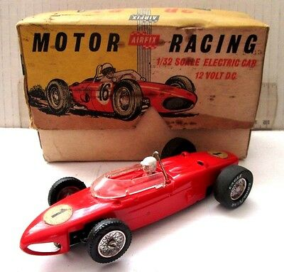 Scalextric Vintage Made By  Airfix Ferrari Shark Nose 1960's F1 Car With Box