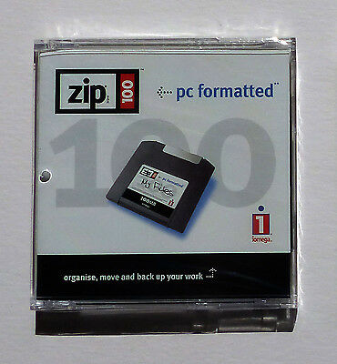 iomega zip 100mb disks – new and sealed - cellophane wrapped