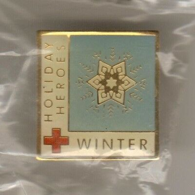 """""""WINTER"""" - an American Red Cross Blood Services Holiday Heroes program pin"""